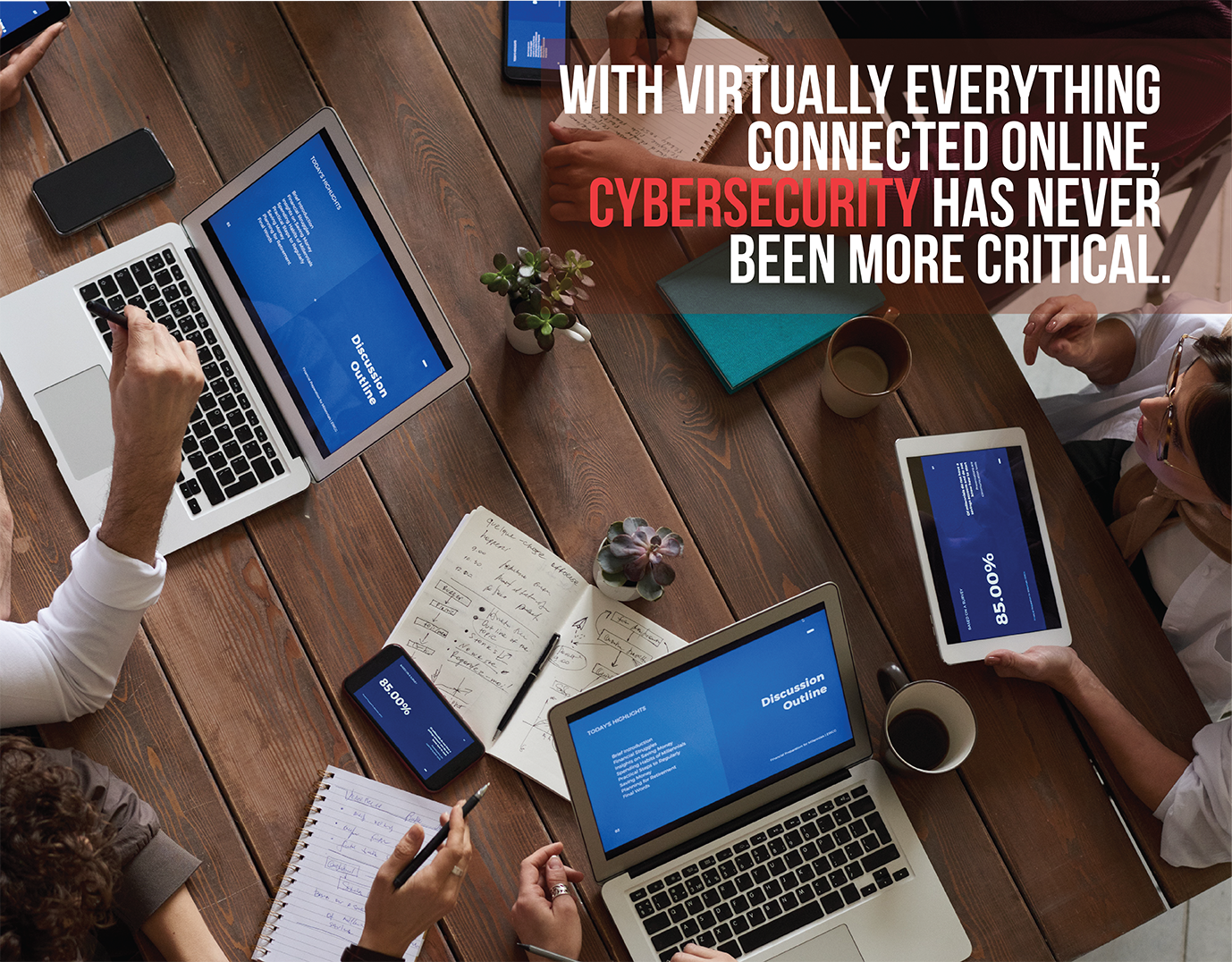 cybersecurity has never been more critical with virtually everything connected online