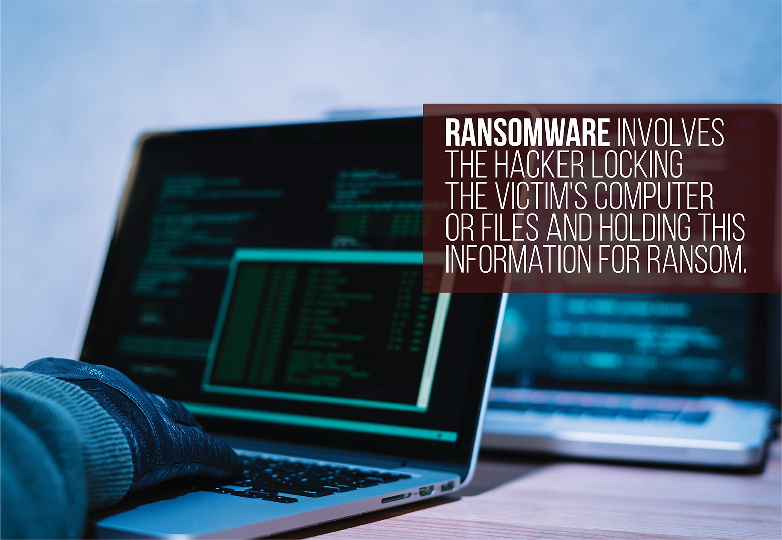 ransomware is a hacker locking a victim's computer or files for a ransom