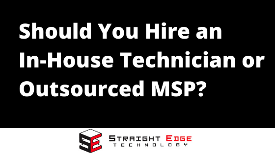 outsourced msp and in house techs