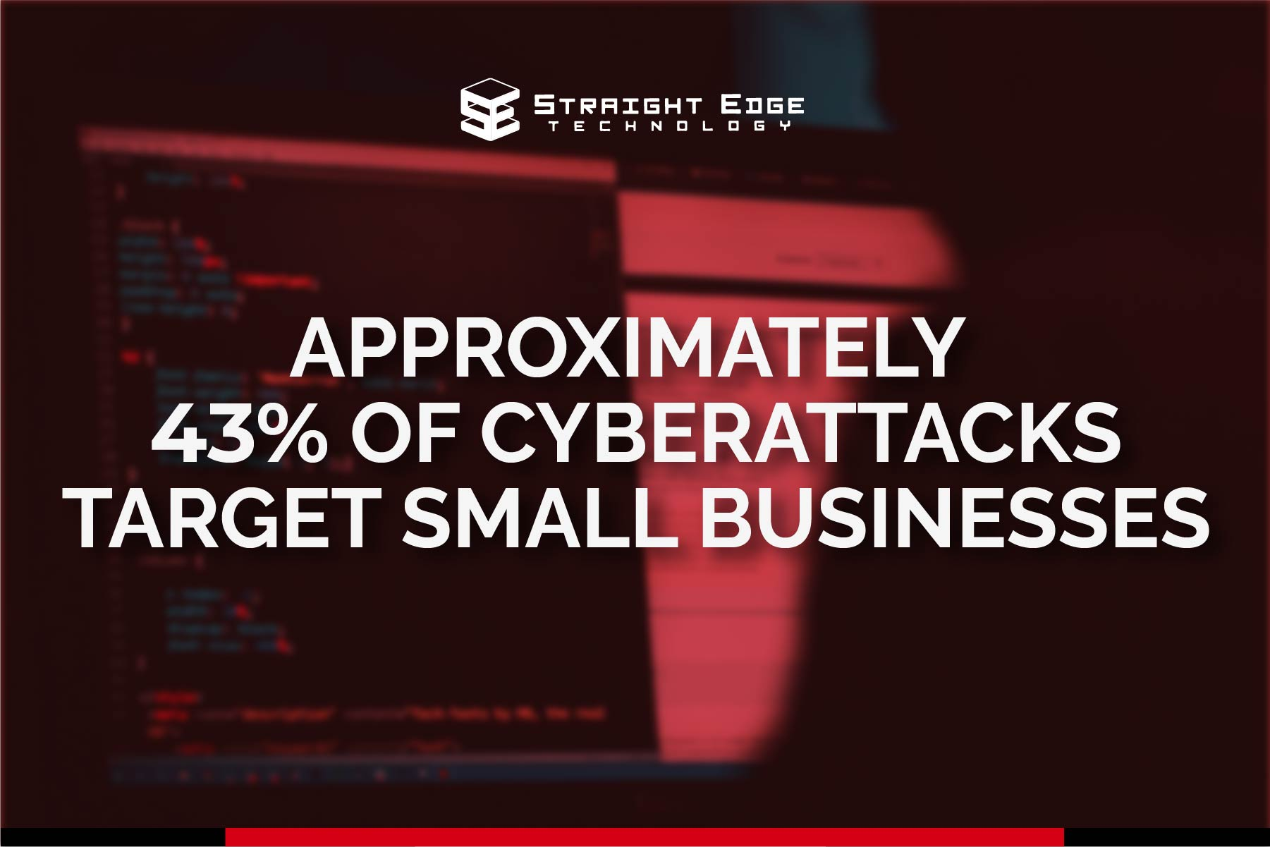 approximatley 43% of cyberattacks target small businesses