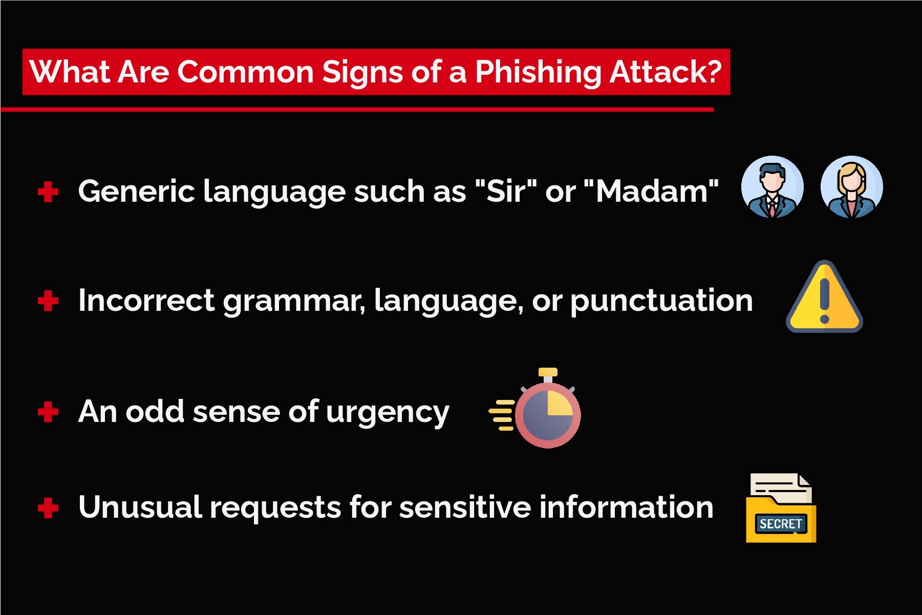 common signs of a phishing attack